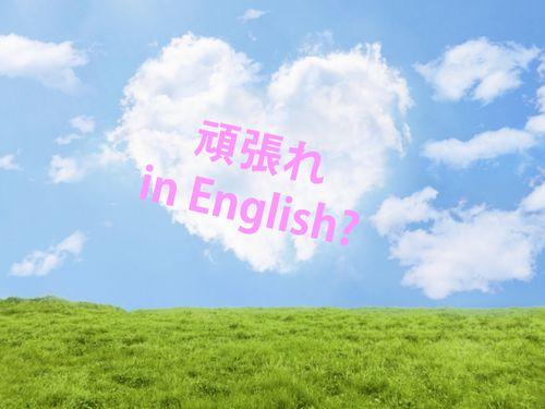 英語で頑張れって?
