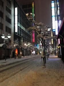 銀座スクールの雪