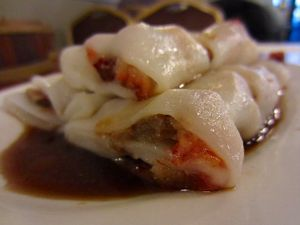 Rice rolls with shrimps or Char Siu