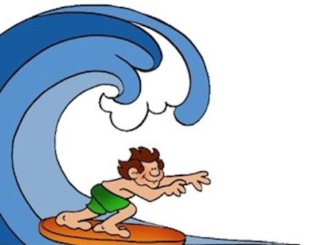 英語で波に乗る