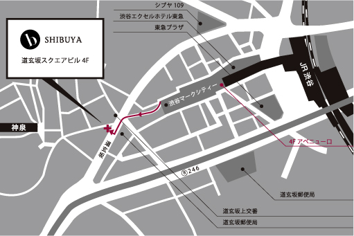 渋谷スクール簡易マップ