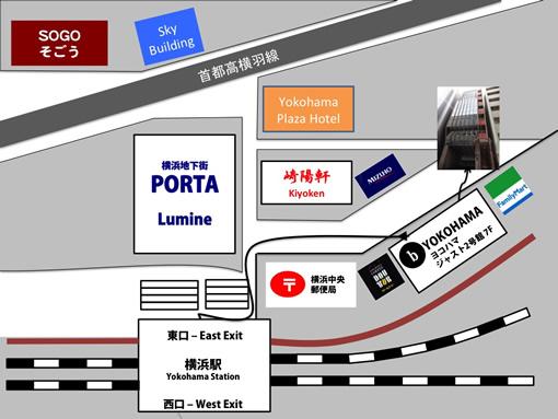 b わたしの英会話 横浜 地図