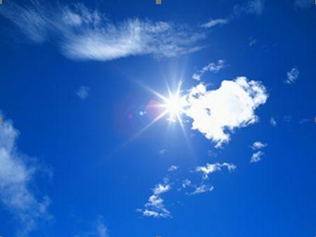 快晴の天気