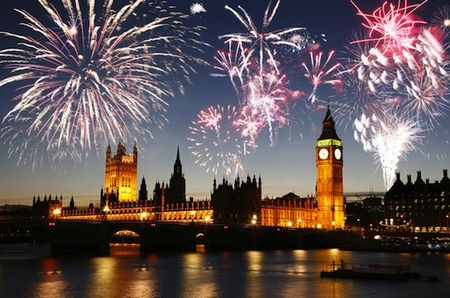 ロンドンの花火