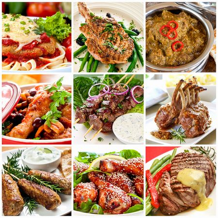 roast beef, lamb, pork or duck