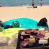 海辺でバーベキューを英語で