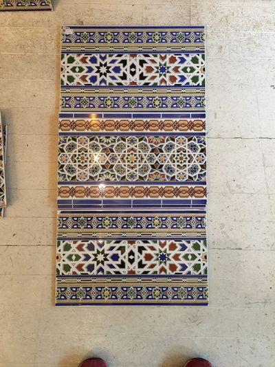 モロッコタイルの配列