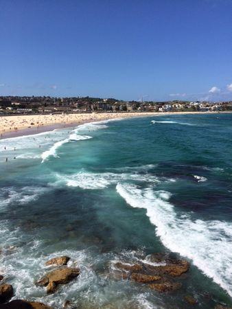 シドニーは電車で15分でビーチです☆