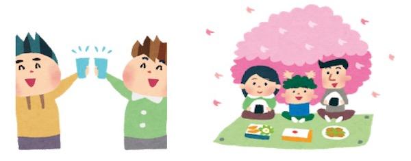 日本の花見 英語で説明