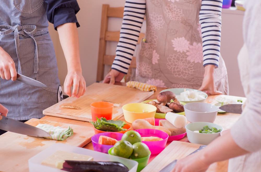 料理教室で学ぶ
