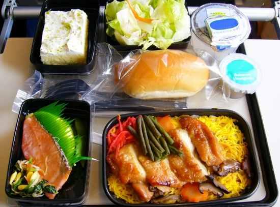 飛行機の機内食の際の英語