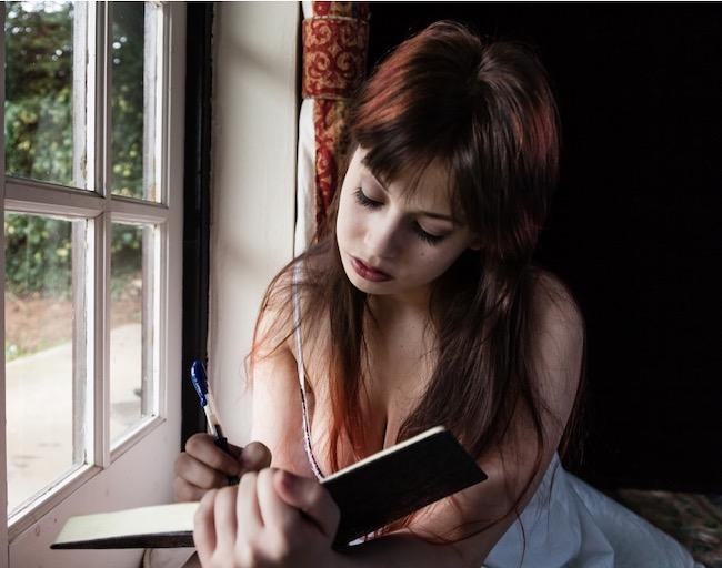 英語で日記を書く人