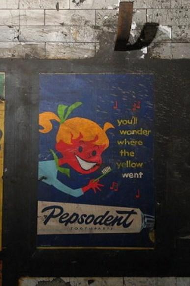 ペプソデントのポスター