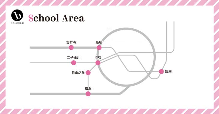 b私の英会話スクールマップ