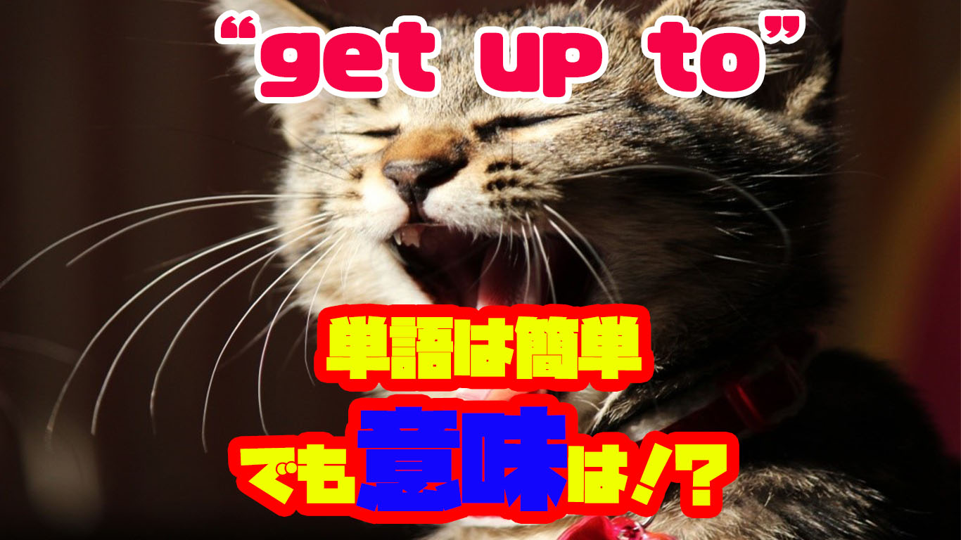 get up toの意味