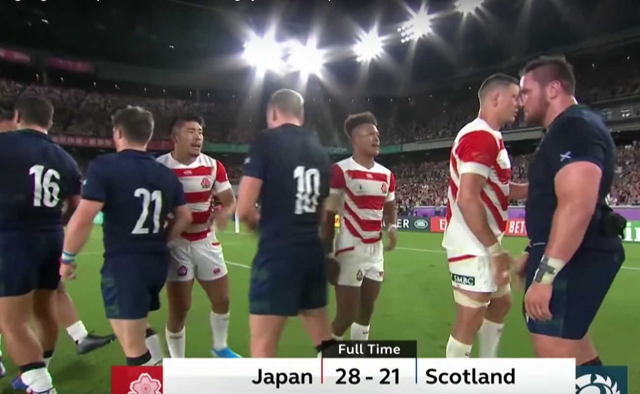 日本対スコットランド・ラグビーワールドカップ