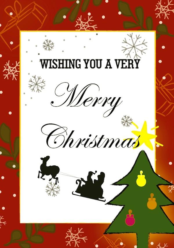 メリークリスマスの英語のスペルと筆記体