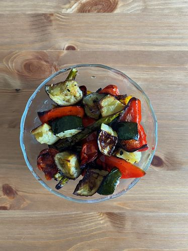 Easy Roasted Mediterranean Vegetables by Lana