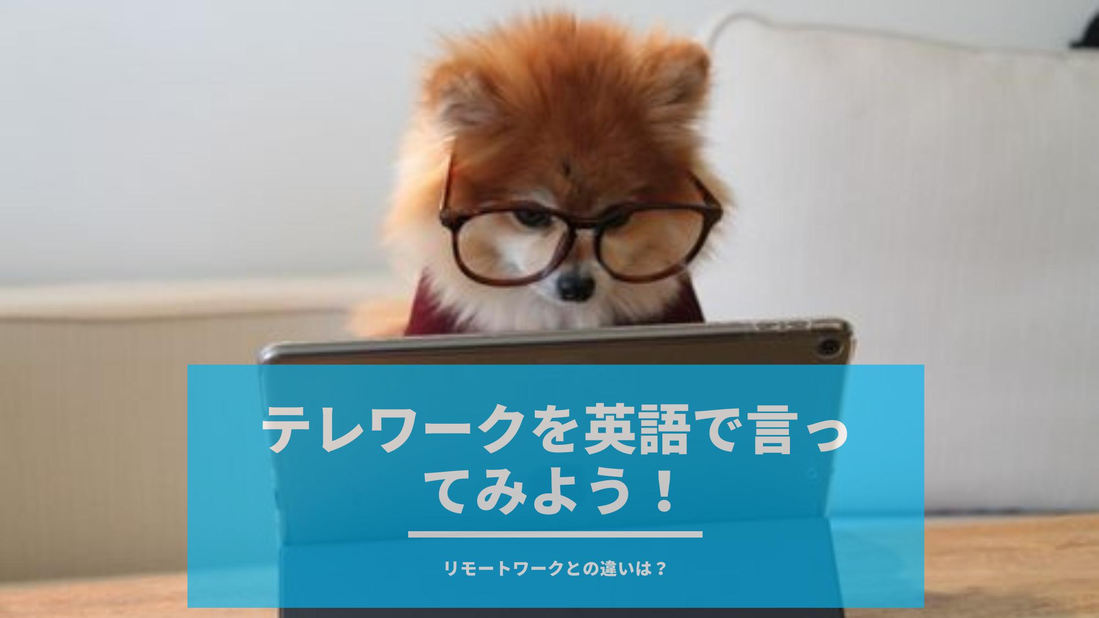 【例文豊富】テレワークとリモートワークの違いは?この2つを英語で理解して英会話に使ってみよう!